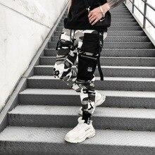 2019 Camo Military Tatical Trousers Hip Hop Men Pant Harajuku Camouflage Cargo Vintage Mens Regular Sweat Harem