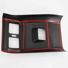 Carbon Fiber Look Rear Seat Air Vent Cover Trim Black New 42*23.5*9.5cm For Toyota Rav4 2019 2020 цены
