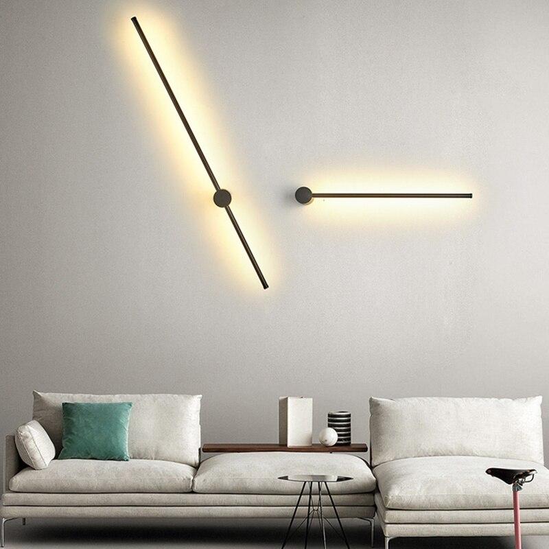 Applique moderne pour chambre lampe étude salon acrylique maison déco applique murale fer blanc corps applique led luminaires