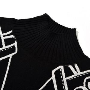 Image 5 - Женский Хлопковый вязаный свитер, повседневный Свободный пуловер большого размера плюс с рисунком на осень и зиму, 2019