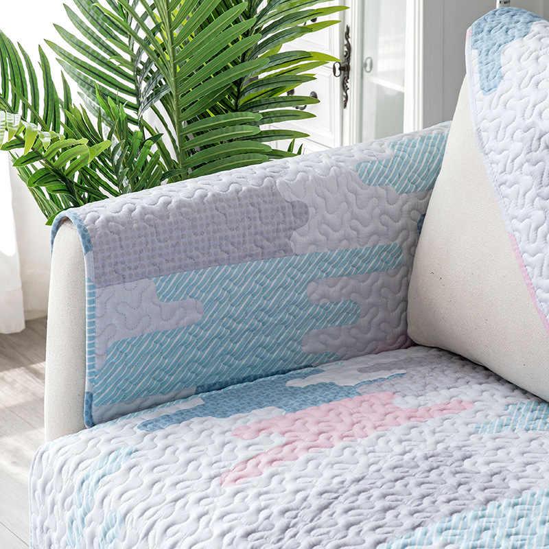 Cotone divano asciugamano twill quattro stagioni antiscivolo divano cuscino del divano copertura salotto tavolino mat Bay finestra tappeto gioco del gioco del bambino pad