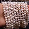 DOTEFFIL 8mm Natural Pearl White/Pink/Purple 925 Sterling Silver 16/18/20 Inch Chain Necklace Woman Engagement Wedding Jewelry 4