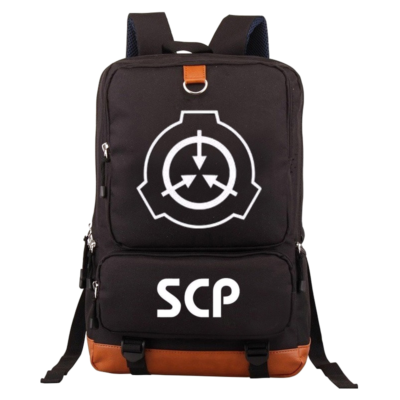 SCP Backpack Canvas School Bag For Teenagers Casual Backpack Men Women Travel Laptop Bags
