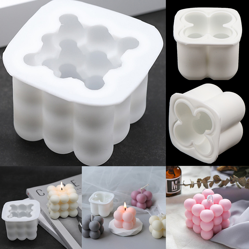 New 3D Magic Shape Silicone Candle Mould Aromatherapy DIY Handmade Candle Material Resin Wax Soap Mold Making Supplies