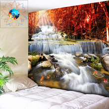 Psychedelic Waterfall Tapestry Forest Wall Hanging Mandala Tapestry Boho Decor Hippie Wall Tapestry Art tapiz pared tela gobelin