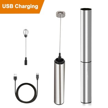 USB Charging Handheld Electric Small Household Milk Frother Eggbeater Pigment Blender High Quality Milk Frother Eggbeater #R30 raw milk quality