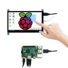 Wisecoco 7 inch LCD Monitor for PS4/Raspberry Pi 4 3B+ 3B Banana Pi HDMI 1024x600 LCD Display Capacitive Touch Screen capacitive 7 1024 600 ips lcd touch monitor hdmi interface hdmi vga av display touch screen module for raspberry pi 3 banana