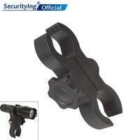 SecurityIng 유니버설 블랙 플라스틱 내구성 & 조절 자전거 토치 손전등 마운트 배럴 클램프 야외에 적합