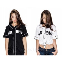 2019-2019 New Men Baseball Jersey T-Shirt Men Baseball T Shirts Black And White Color Tee Shirts Plus Size M-XXL hip hop(China)