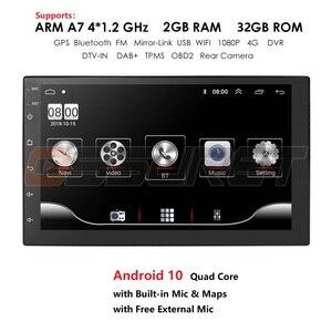 Image 1 - Android 10 2 Din 7นิ้วHD Touch Screenวิทยุรถยนต์เครื่องเล่นวิดีโอมัลติมีเดีย4 Core Universal AutoสเตอริโอGPSแผนที่กระจก2 + 32