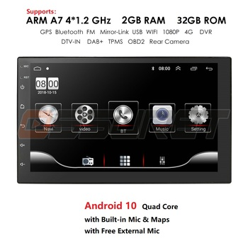Android 10 2 Din 7 inch HD Touch Screen Car radio Multimedia Video Player 4 Core Universal auto Stereo GPS MAP Mirror Link 2+32 image