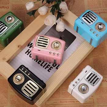 Retro Speaker HM11 Wireless Mini Speakers Loudspeaker Bass Nostalgic Heavy Bass 3D Stereo HiFi Sound TF USB AUX