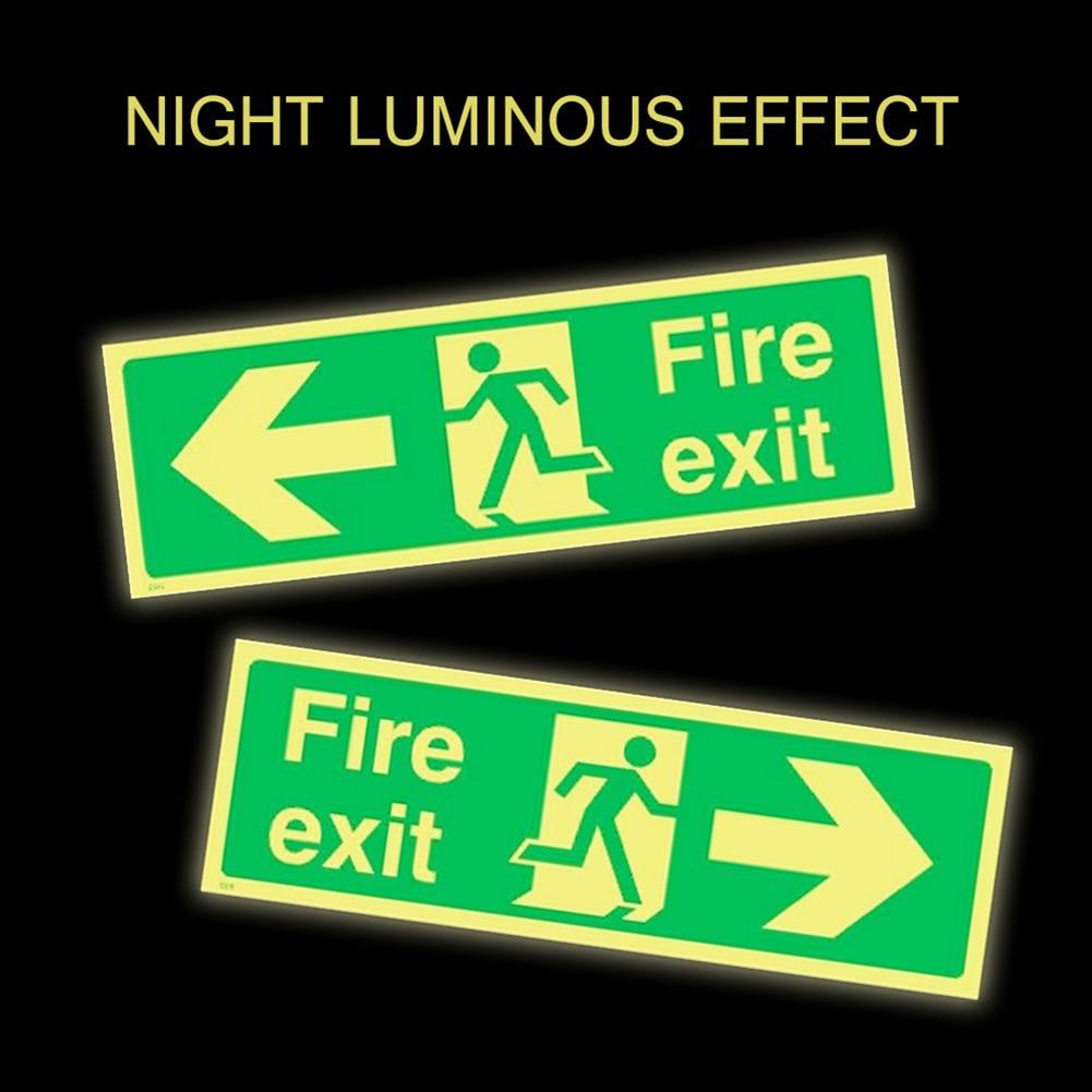 8pcs Photoluminescent Fire Exit Sign 300x100mm Plastic All Direction Arrows VDX99