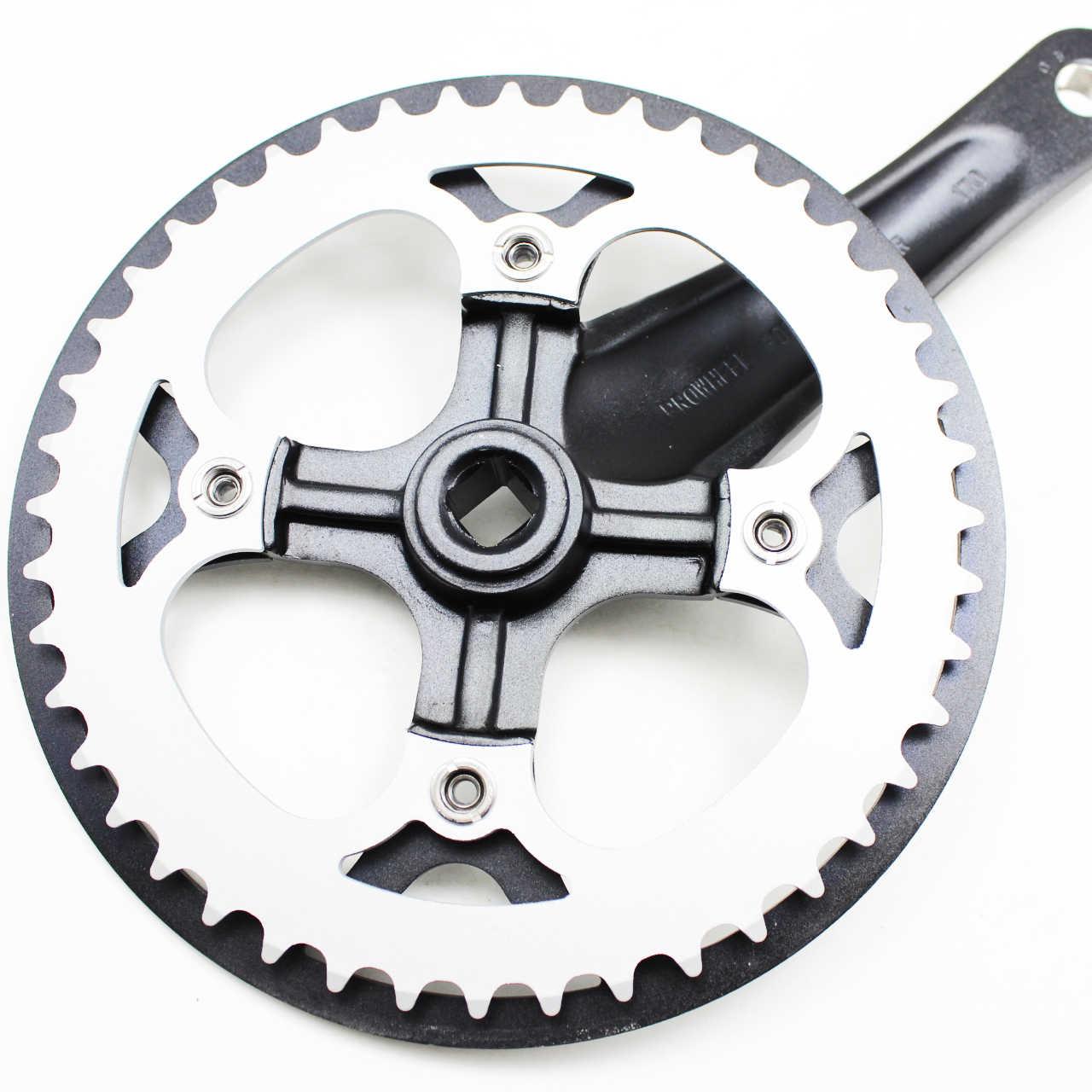도로 자전거 Crankset 44T 170mm 자전거 Crankset 접는 자전거 자전거 부품에 대 한 단일 속도 알루미늄 합금 크랭크