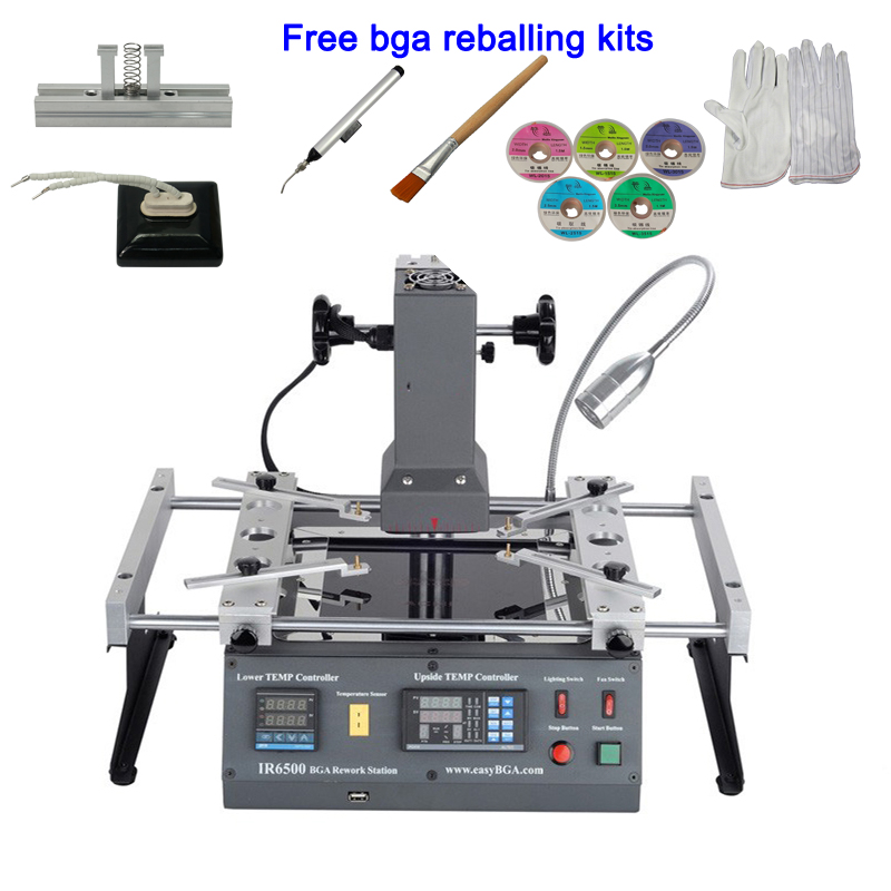 ACHI IR6500 Infrared BGA rework station SMD SMT desoldering Station with bga reballing kit for laptop game consoles xbox ps3