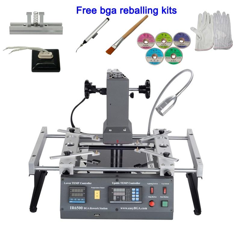 ACHI IR6500 Infrared BGA rework station SMD SMT desoldering Station with bga reballing kit for laptop game consoles xbox ps3
