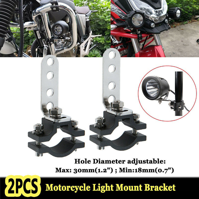 Motorcycle 1.2 Inch Car Bull Bar Holder Clamp Offroad Tube Clamps Mounting Brackets for LED Light Bar Work Lights|Headlight Bracket|   - AliExpress