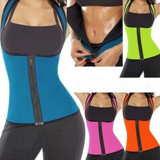 Women Sweat Body Suit Sweat Belt Shaper Premium Waist Trimmer Belt Waist Trainer Corset Shapewear Slimming Vest Underbust 5