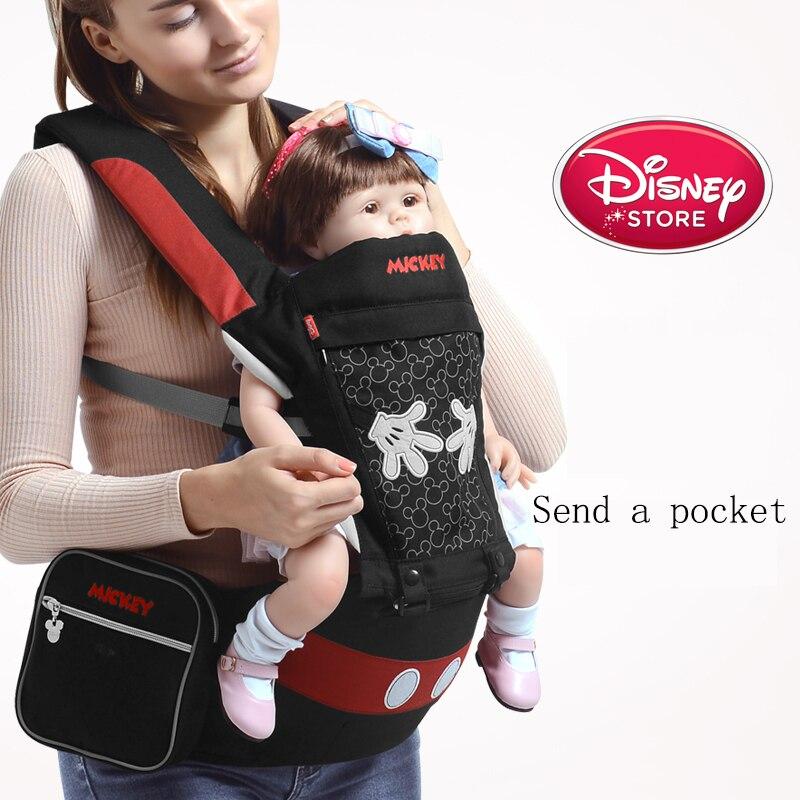 Disney Ergonomic Baby Carrier Backpack Infant Sling Toddler Waist Wrap Carrier Gear Baby Holder Waist Stool Mickey Minnie Design