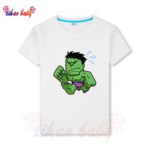 Nowy superbohater cartoon T shirt z okazji urodzin dziecięcy T-shirt letni top Iron Man T-shirt z nadrukiem chłopiec dziewczyna t shirt kid clothes tanie tanio KEKEXIHAOZ COTTON Na co dzień REGULAR O-neck Topy Tees Krótki Pasuje prawda na wymiar weź swój normalny rozmiar Unisex