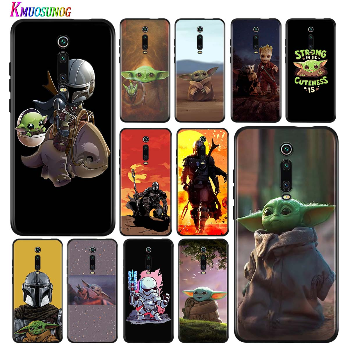 Silicone Cover Baby yoda The Mandalorian for Xiaomi Redmi Note 5 4X 4 K20 Pro 8 8A 7A 6A 6 S2 5A GO Plus Phone Case image