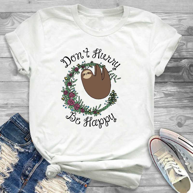 T-Shirt T-Shirt T-shirts T-shirts mode femmes paresseux besoin de beaucoup de café vêtements drôles dessin animé femmes femme graphique T-Shirt