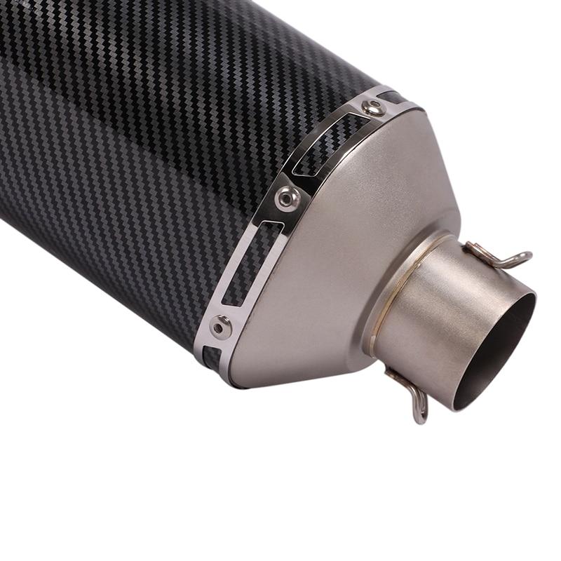 Мотоцикл Нержавеющая сталь глушитель вентилятора трубы 470 мм