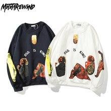 Kanye High Street Plus Velvet Sweatshirt Men Jesus religious print crew neck Hoodies Stranger Things Pullover Fleece Men Hoodies