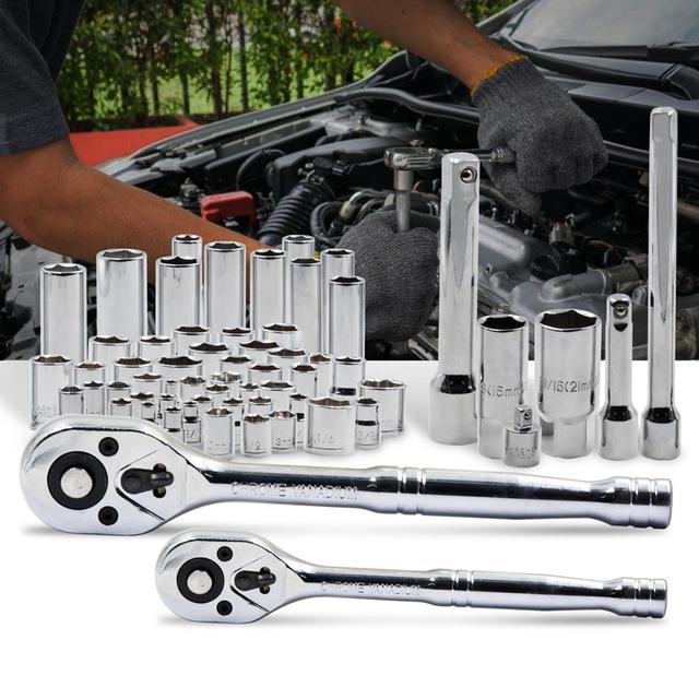228pcs Tool Set Socket Wrench Tools Auto Repair Mixed Combination Toolbox Package Hand Kit Plastic by PROSTORMER 4