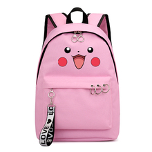 Cute Pikachu-pokemon Backpack Women Rucksack Female Travel Daypack Laptop Backpacks Book Schoolbags Feminina Women Bag Rugzak