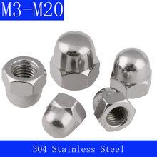 M3 M4 M5 M6 M8 M10 M12 M14 M16 M18 M20 304 Stainless Steel Hexagon Cap Nuts Hex Acorn Nuts DIN 1587