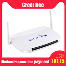 Bestseller great bee Arabic box for IPTV,free shipping,free for life to watch,no monthly or yearly pay(China)