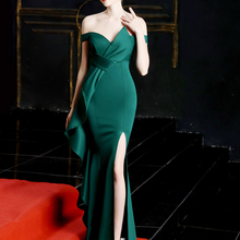 Prom-Dresses Prom-Gown Sweetheart Vestidos-De-Gala Mermaid Long Green Split Sexy Elastic