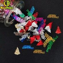 Confettis de noël, 15g, Joyeux néol, étoile scintillante, flocon de neige, bonhomme de neige, fournitures de décoration pour la maison, Festival