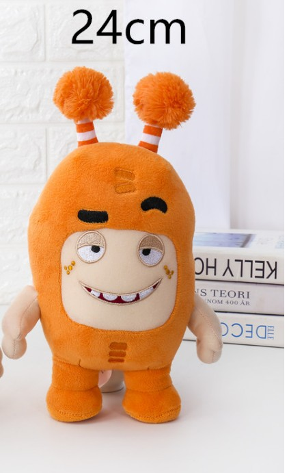 Free shipping 24cm 7 colors Oddbods Plush Toy Soft Cute Stuffed Dolls for children birthday new year gift in Dolls from Toys Hobbies