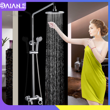 цена на Bathroom Shower Faucets Set Bathtub Mixer Faucet Rainfall Shower Tap Bathroom Shower Head Wall Mounted Bath Shower tap torneira