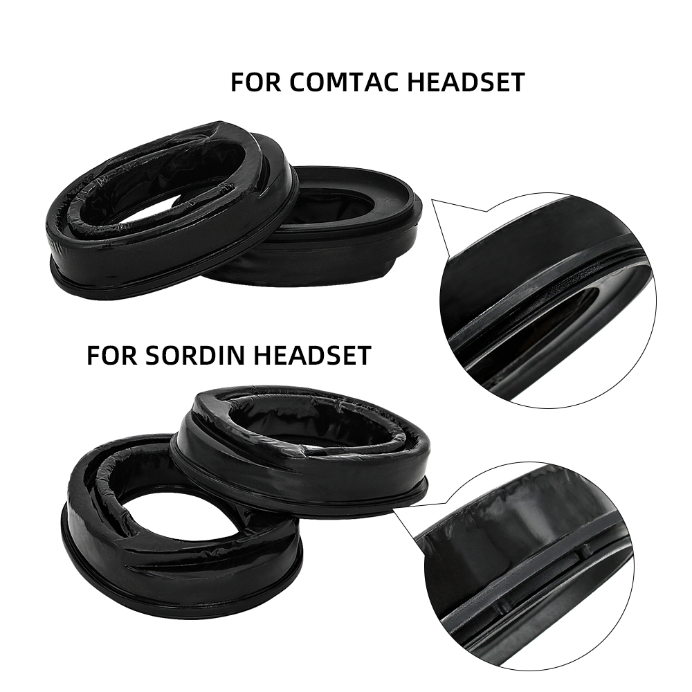 Купить с кэшбэком Sightlines Gel Ear Pads for SORDIN Tactics Headsets Pickup Noise Reduction Airsoft Headphones Comfortable Replacement Earmuffs