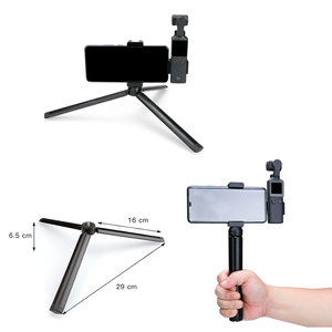 Image 3 - Phone Holder Clamp for Fimi Palm Accessories Built in 1/4 Screw Hole with Tripod Extension Rod Flash Holder Mount Bracket