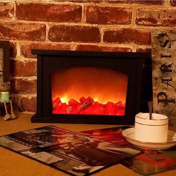 Lampa LED Creative Home lampa kominkowa lampa z płomieniem lampa modelująca styl skandynawski dekoracyjna lampa stołowa lekkie rzemiosło bożonarodzeniowe ozdoby tanie i dobre opinie Nemobub CN (pochodzenie) Suche baterii HOLIDAY