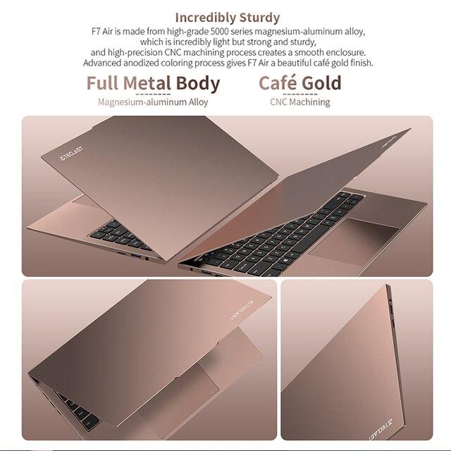 "Newest Teclast F7 Air Laptop 1.18KG 14"" 8GB LPDDR4 256GB SSD Intel N4120 Notebook 1920x1080 Windows 10 OS 180° Laptops Type-C 4"