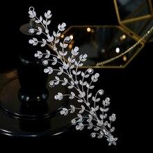 ASNORAHigh ウェディングヘアアクセサリーヘッドドレスクリップエレガントな花ウェディングヘッドドレス花嫁ディナーパーティーヘアアクセサリー