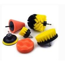 ניקוי מברשת 7pcs כוח Scrubber מברשת סט חשמלי מברשת לניקוי אמבטיה אסלת מקלחת אריח אלחוטי לשפשף תרגיל