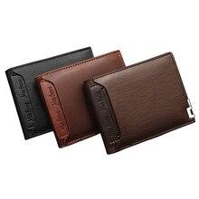 Мужской кожаный кошелек держатель для карт модный кошелек для карт модный многофункциональный для кредитных карт мужской Железный край Billetera Hombre