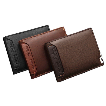 Men Wallet Leather Card Holder Fashion New Card Purse Fashion Multifunction for Credit Cards Male Iron Edge Billetera Hombre