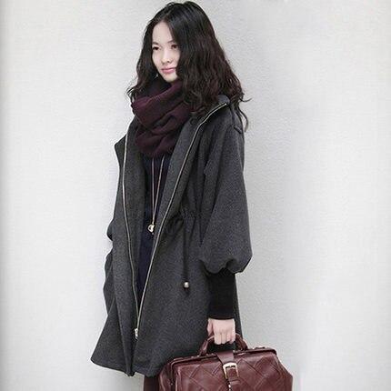 Liser 2019 Autumn And Winter New Long Double-faced Coat Female Cashmere Coat Short Cloak Woolen Woolen Woolen