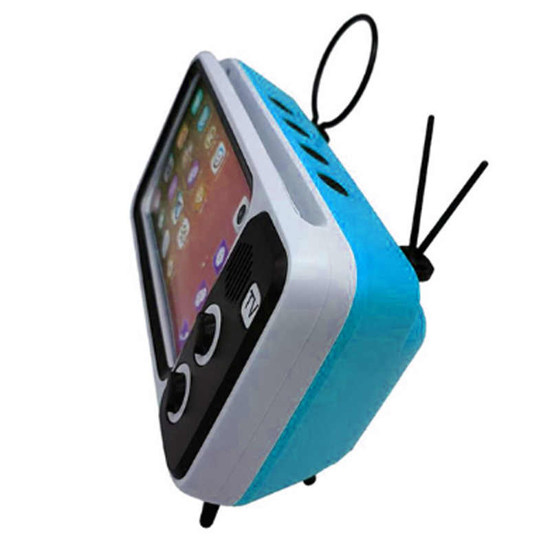 Top 3 In 1 Wireless Speaker Retro TV Mini Portable Bluetooth Bass Speaker Ponsel Pemegang Telepon Speaker Retro Bingkai Foto untuk Hadiah
