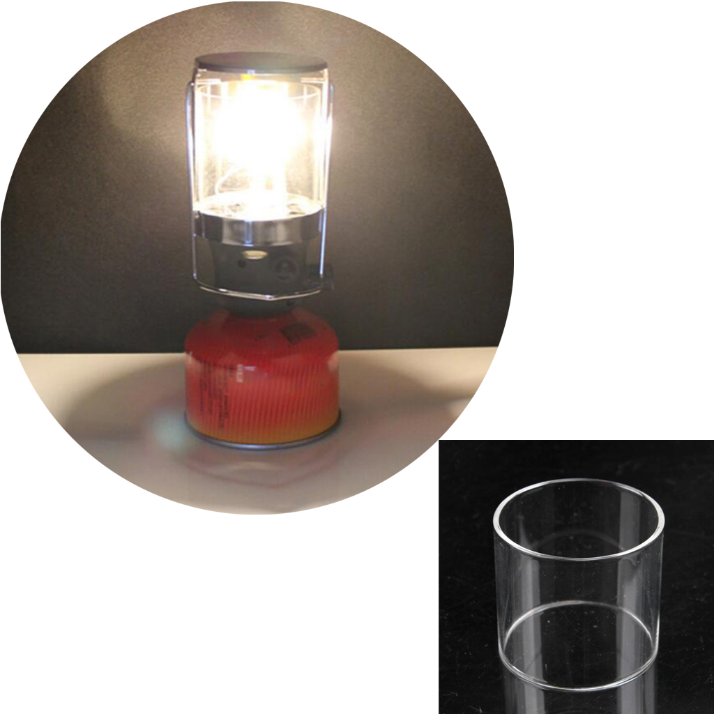 Outdoor Camping Tent Gas Lantern Lampshade - Replacemnt Glass Cover for Gas Lamp Accessories