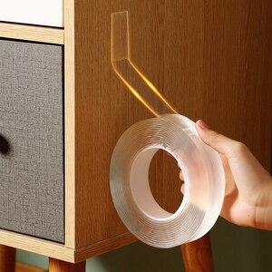 1/2/3m/5m double sided tape nano magic tape silicone gekko foam tape adhesive gekkotape Reusable Can Washed Acrylic Fixing Tape(China)