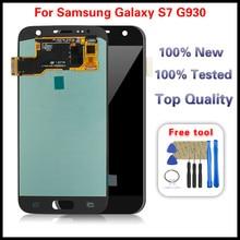 1 шт. для Samsung Galaxy S7 G930 SM G930P SM G930V SM G930A ЖК дисплей сенсорный экран дигитайзер стекло сборка бесплатные инструменты