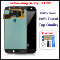 1Pcs For Samsung Galaxy S7 G930 SM G930P SM G930V SM G930A SM G930T LCD Display Touch Screen Digitizer Glass Assembly Free Tools